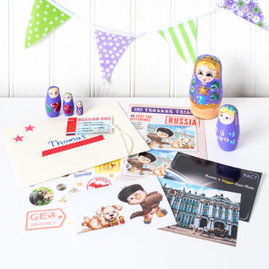 Russia Themed Activity Set With Russian Doll - toys & games