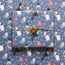 Christmas Tropical Birds Wrapping Paper