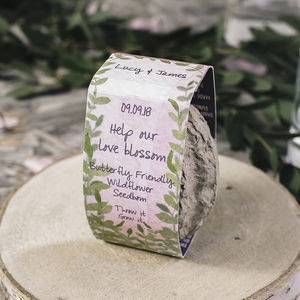 Wedding Favour Personalised Seedboms X 50 - wedding favours