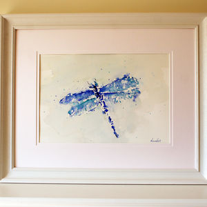 Dragonfly Painting, Blu - new in prints & art