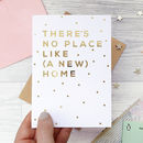 Housewarming 'A New Home' Gold Foil Card
