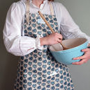 Black Dandelion Oil Cloth Apron