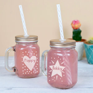Personalised Small Mason Jar