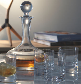 Personalised Whisky Decanter And Glasses Set