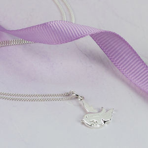 Sterling Silver Little Bird Necklace - wedding fashion