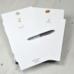 Back To School Sports Writing Paper Set