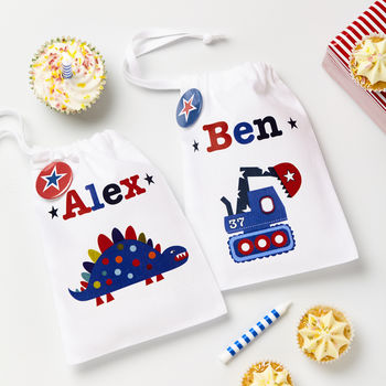 Boys Personalised Party Bags Set