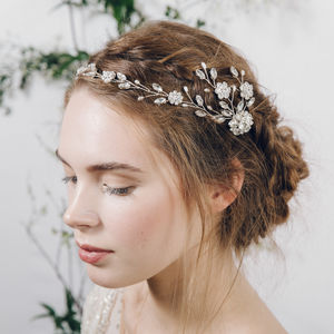 Bohemian Grecian Style Wedding Hairvine Cora - wedding fashion