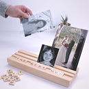 Using Photo Holders in Light Beech Scrabble Photo Block