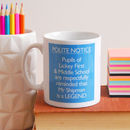 Personalised 'Teacher Is A Legend' Mug
