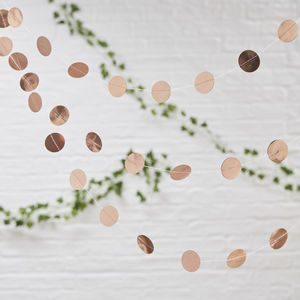 Rose Gold Circle Garland For Wedding And Parties - decoration