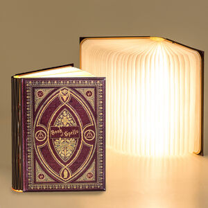 Hp Themed Magic Book Reading Or Night Light