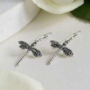 Sterling Silver Little Dragonfly Earrings
