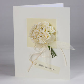 Personalised Rose Bouquet 3D Greetings Card