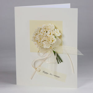 Personalised Rose Bouquet 3D Greetings Card - anniversary cards