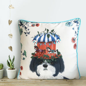 Shih Tzu Cushion, The Milliners Dogs - patterned cushions