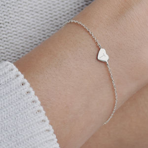 Monogram Personalised Sterling Silver Heart Bracelet - for children