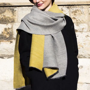 Personalised Pleated Cashmere And Modal Scarf Shawl - scarves