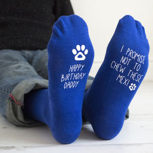 Personalised Birthday Socks From The Dog - pet-lover