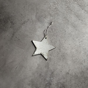 Antique Glass Hanging Star