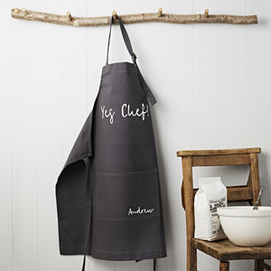 Yes Chef! Canvas Apron - personalised gifts