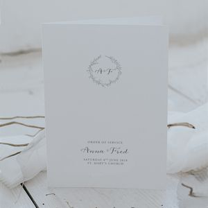 Anna Order Of Service - wedding stationery