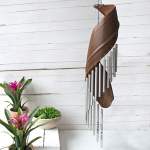 Personalised Wooden Garden Wind Chime