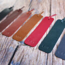 Personalised Leather Bookmark