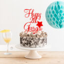 Happy Birthday Name Age Personalised Cake Topper