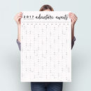 Adventure Awaits 2017 Wall Planner