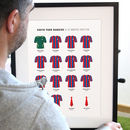 Personalised Junior Football Team Kits Print