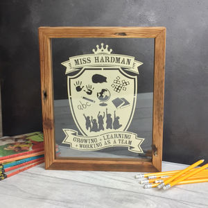 Teacher Personalised Papercut