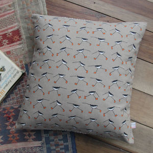 Oyster Catcher Cushion - bedroom