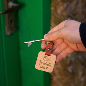 Personalised Garden Shed Keyring For Him