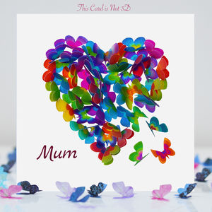 Butterfly Mum Card, Mum Birthday Card. T