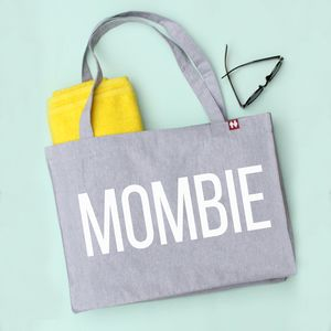 Personalised 'Mombie' Large Tote Bag
