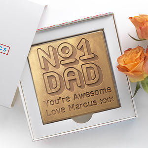 Personalised 'Best Dad' Father's Day Chocolate Card - novelty chocolates