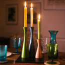 British Colour Standard Wooden Candle Holder Tall