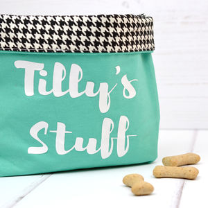 Personalised Pet Accessory Storage - dog food storage