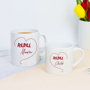 Rebel Mum And Child Mug Set