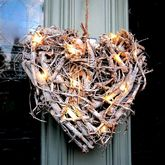 Heart Decoration With LED Lights - garden