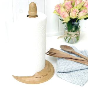 Wooden Kitchen Towel Holder - kitchen