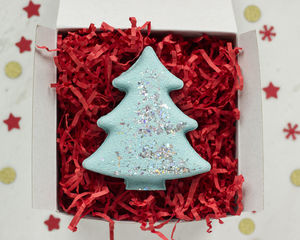 Christmas Tree Bath Fizzy In Gift Box - bath & body