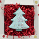 Christmas Tree Bath Fizzy In Gift Box