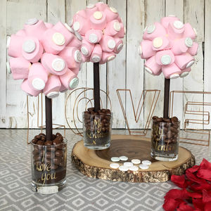 Personalised Valentines Marshmallow Love Heart Tree - food gifts