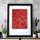 Personalised Football Stadium Map Print