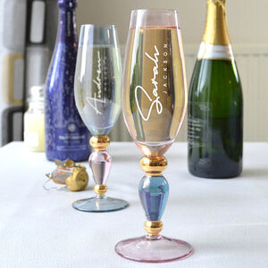 Elegantly Crafted Personalised Champagne Flute