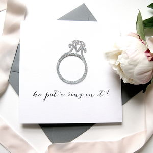 Engagement 'He Put A Ring On It' Card