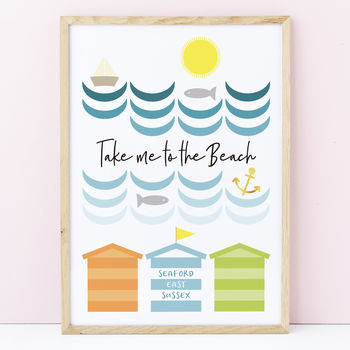 Personalised Beach Print