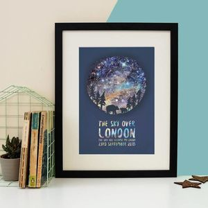 Personalised Constellation Parent And Child Print - gifts for him
